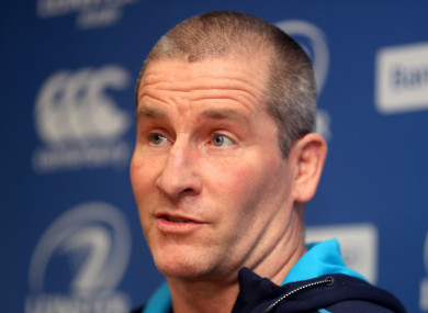 Lancaster speaking to the media at UCD yesterday.