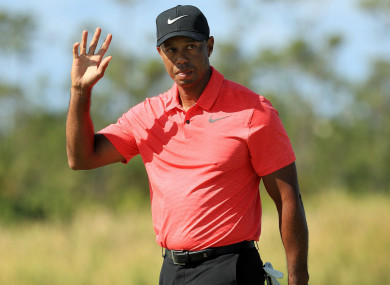 Tiger Woods during the final round at the Hero World Challenge