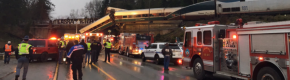 Multiple injuries after Washington train derails onto highway