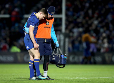 Ringrose limped out of Leinster's victory over Ulster on Saturday.