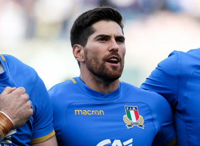 McKinley made his Italy debut against Fiji in November.