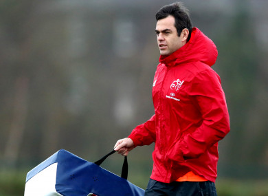Van Graan pictured during squad training at UL on Wednesday.