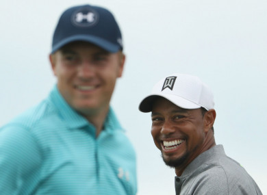 Jordan Spieth and Tiger Woods (file pic).