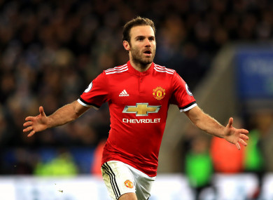 Mata has started 17 Premier League games this season.