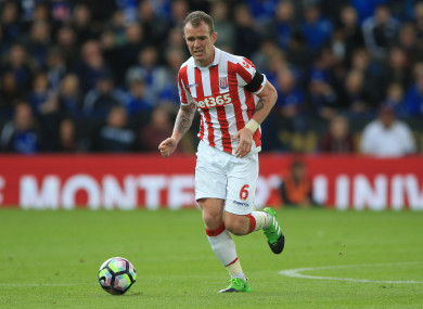 Glenn Whelan left Stoke to join Aston Villa in the summer.