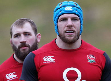England's Joe Marler and James Haskell