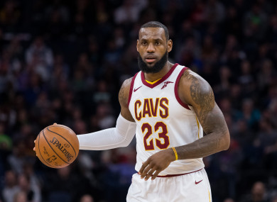 Cleveland Cavaliers forward LeBron James (file pic).
