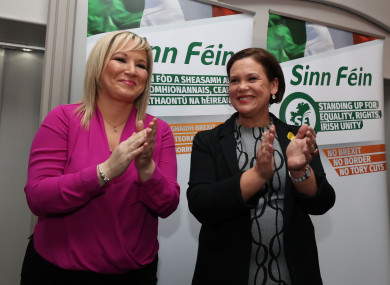 Michelle O'Neill alongside Mary Lou McDonald.