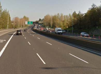 The N4 in Dublin where the crash took place last night.
