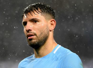 Manchester City star Sergio Aguero.