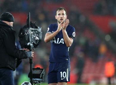 Tottenham striker Harry Kane.