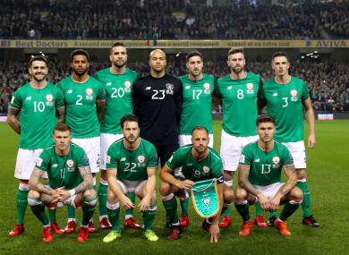 Ireland team (file pic).