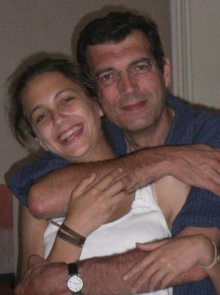 A photo of Xavier Dupont de Ligonnes, with his daughter Anne (then 16), that was handed out by police in 2011