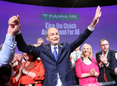 Micheál Martin's party has seen a three point bump in the latest poll.