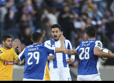 Porto players celebrate.