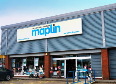 Irish branches of Maplin risk closure as electronics chain goes into