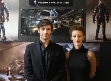 Eoin Macken and Maya Eshet at the launch of the production today