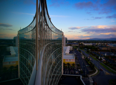 The view from the Crowne Plaza in Blanchardstown