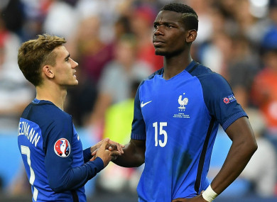Antoine Griezmann and Paul Pogba (file pic).