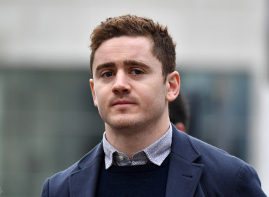 Paddy Jackson arriving at Laganside Courts in Belfast earlier this month