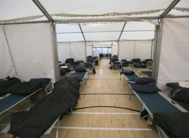 Emergency Beds for homeless people set up ahead of Storm Emma.