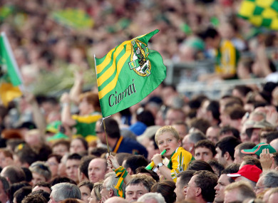 A general view of a Kerry flag (file pic).