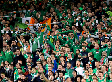 Ireland fans (file pic).
