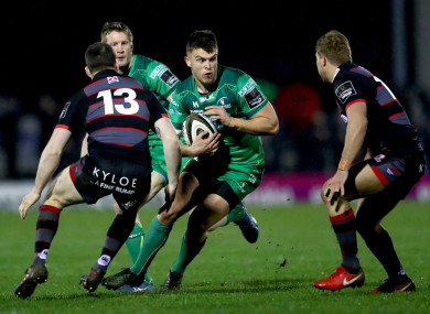 Tom Farrell in action at the Sportsground this evening.