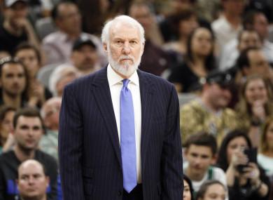 San Antonio Spurs head coach Gregg Popovich (file pic).