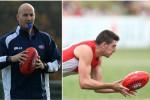 Sydney Swans coach Tadhg Kennelly and player Colin O'Riordan.