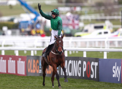 Ruby Walsh brings Footpad home to win the Arkle.