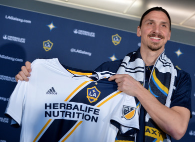 Zlatan Ibrahimov was unveiled by LA Galaxy yesterday.
