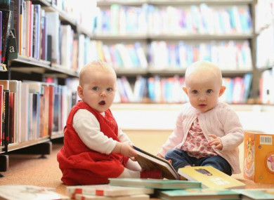 Two happy bookworms at one of DLR LexIcon's recent Baby Book Clubs.