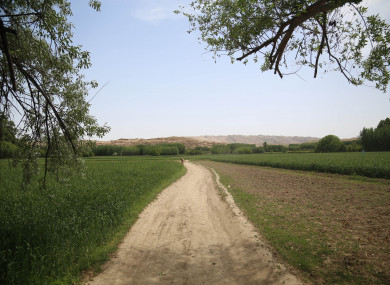 File photo showing a pathway in Sholgara district of northern Balkh province, Afghanistan.