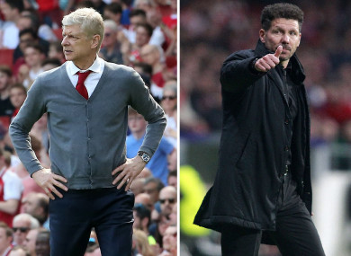 Arsene Wenger and Diego Simeone.