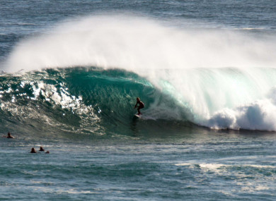 A file pic of surfers competing in the 12-day Margaret River Pro.