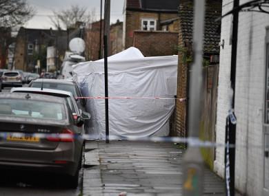 The scene of Monday's murder.