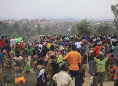 A camp for displaced people in Bunia, eastern Congo.