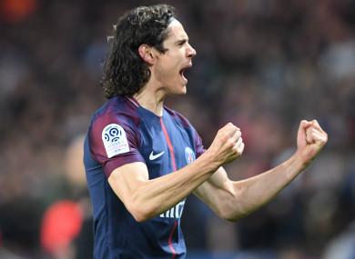 Paris Saint-Germain forward Edinson Cavani