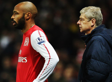 Golden period: Thierry Henry and Arsenal manager Arsene Wenger.