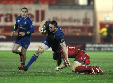 Conan in action against Scarlets when the sides deadlocked eachother to a 10 -10 draw last month.
