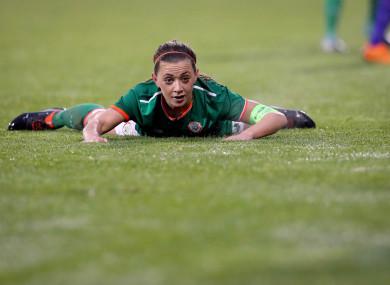 Ireland captain Katie McCabe during last night's qualifier in Tallaght.