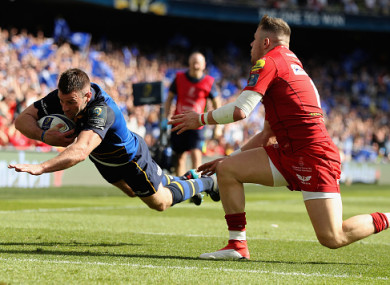 McFadden was hit late by Scarlets winger Steff Evans.