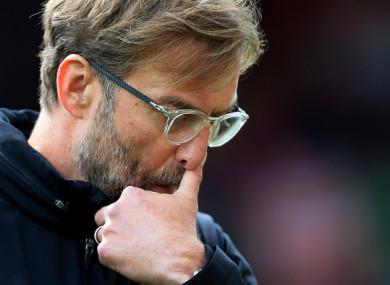 Liverpool manager Jurgen Klopp pictured on Saturday.