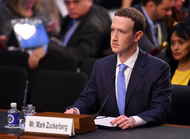 Facebook CEO Mark Zuckerberg appearing before a Senate committee last week.