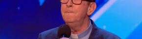 Simon Cowell led a standing ovation for a Co Meath priest at last night's Britain's Got Talent