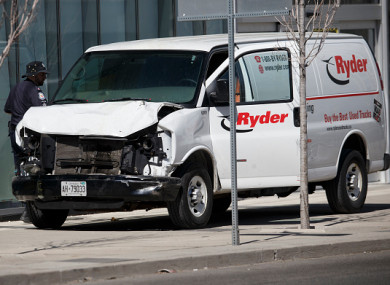 What we know about the toronto van attack in which 10 people were killed police inspect the van used in the attack fandeluxe Images