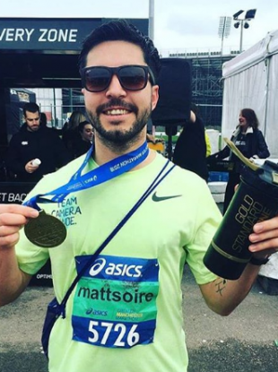Matt Campbell was running his second marathon in as many weeks.