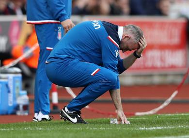 Down and out? Stoke boss Paul Lambert.