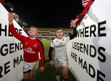 Olding (left) and Jackson (right) have had their contracts revoked by Ulster.